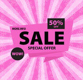 Sale pink banner Stock Photo