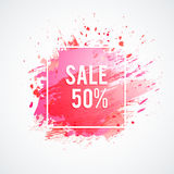 Sale-pink-spot Stock Photos