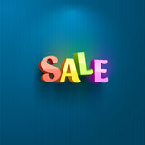 Sale placard for advertising text Stock Images