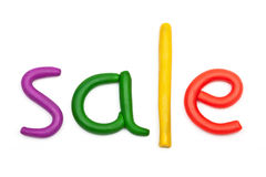 Sale plasticine figures Royalty Free Stock Images