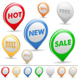 Sale pointers Stock Images