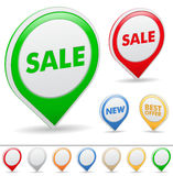Sale pointers Royalty Free Stock Photos