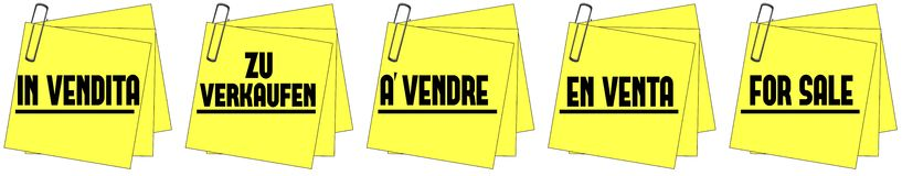 For sale post it Stock Images