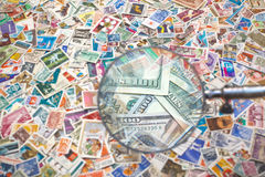 Sale of postage stamps Stock Photography