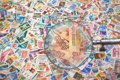 Sale of postage stamps Royalty Free Stock Image
