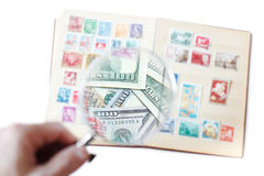 Sale of postage stamps Stock Photo