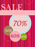 Sale Poster Stock Photos