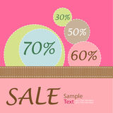 Sale Poster Royalty Free Stock Photos