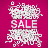 Sale poster. With pink background Stock Images