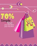 Sale poster stock illustration