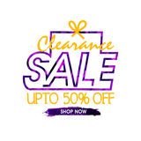 Sale Poster or Banner design. Royalty Free Stock Photography