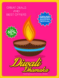 Sale Poster or Banner for Diwali Dhamaka offer. Stock Image