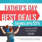 Sale Poster or Banner for Father's Day celebration. Stock Image