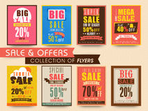 Sale Poster, Banner or Flyer collection. Stock Photos