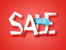 Sale Poster, Banner or Flyer design. Stock Photo