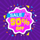 Sale Poster, Banner or Flyer design. Royalty Free Stock Photography