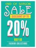 Sale poster, banner or flyer design. Stock Images