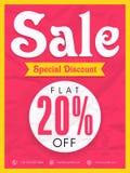 Sale Poster, Banner or Flyer design. Royalty Free Stock Images
