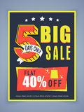 Sale poster, banner or flyer design. Royalty Free Stock Images