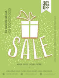 Sale poster, banner or flyer with discount for Eid celebration. Stock Image