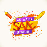 Sale poster, banner or flyer for Diwali. Royalty Free Stock Photo