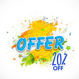 Sale Poster, Banner or Flyer for Indian Republic Day. Royalty Free Stock Photography