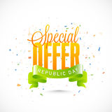 Sale Poster, Banner or Flyer for Indian Republic Day. Royalty Free Stock Image
