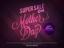 Sale Poster, Banner or Flyer for Mother's Day. Royalty Free Stock Photography