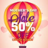 Sale Poster, Banner or Flyer for Mother's Day. Stock Photo