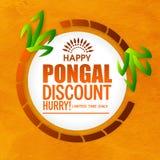Sale Poster, Banner or Flyer for Pongal celebration. Royalty Free Stock Image
