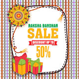 Sale Poster, Banner or Flyer for Raksha Bandhan. Royalty Free Stock Image