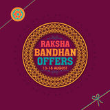 Sale Poster, Banner or Flyer for Raksha Bandhan. Royalty Free Stock Images