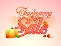 Sale poster, banner or flyer for Thanksgiving Day celebration. Stock Images