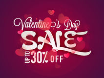 Sale Poster, Banner or Flyer for Valentine's Day. Stock Images