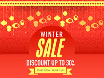 Sale poster, banner or flyer for Winter celebration. Royalty Free Stock Photos