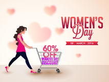 Sale Poster, Banner or Flyer for Women's Day. Stock Photo