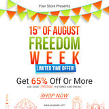 Sale Poster or Banner for Indian Independence Day. Royalty Free Stock Images