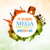 Sale Poster or Banner for Indian Independence Day. Stock Images