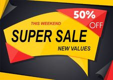 Banner design sale template. Sale poster of black friday, banner template design Stock Images