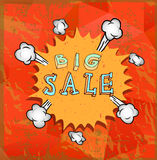 Sale poster with Boom comic strip Royalty Free Stock Photography