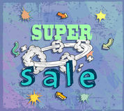 Sale poster with Boom comic strip Royalty Free Stock Images
