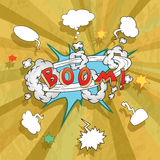 Sale poster with Boom comic strip Royalty Free Stock Photos