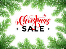 Sale poster for Christmas promo shopping store Royalty Free Stock Photos
