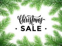 Sale poster for Christmas promo shopping store Royalty Free Stock Image
