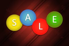 Sale poster stock image
