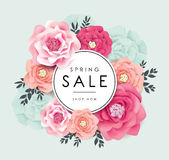 Sale poster design Royalty Free Stock Photography