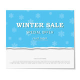 Sale poster. Design template for holiday  Royalty Free Stock Photo