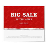 Sale poster. Design template for holiday  Royalty Free Stock Photos