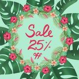 Sale poster discount twenty five 25 % percent off promotion banner stock illustration