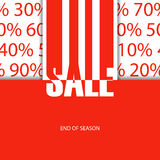 Sale poster. End of season. Stock Photo